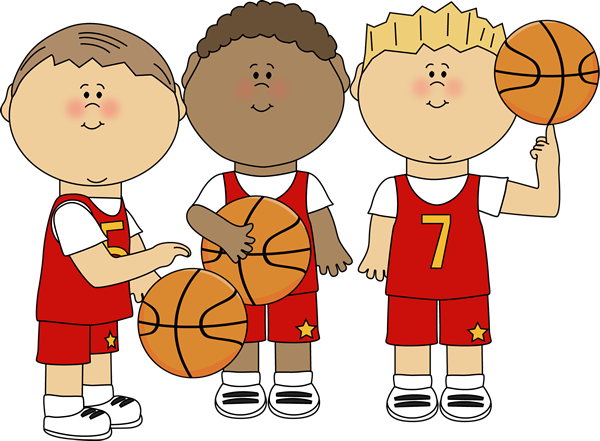Boy Basketball Players Clip Art - Boy Basketball Players Image