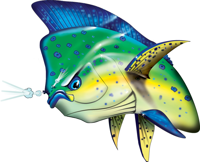 Dolphinfish drawing - photo#10