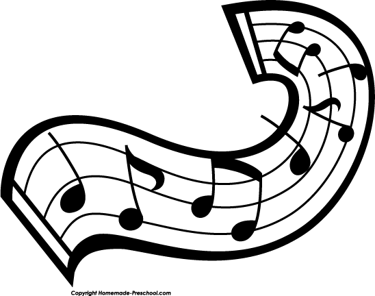 Music Note Clip Art Black And White | Clipart Panda - Free Clipart ...