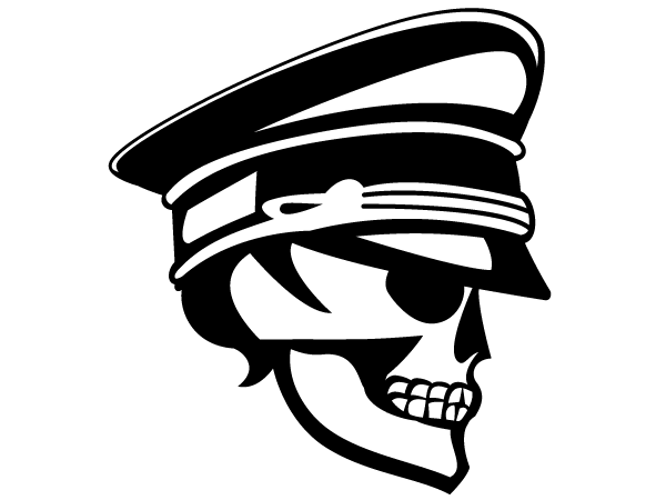 Skull Officer Vector Image | Free Vector Skull Clip Art Download