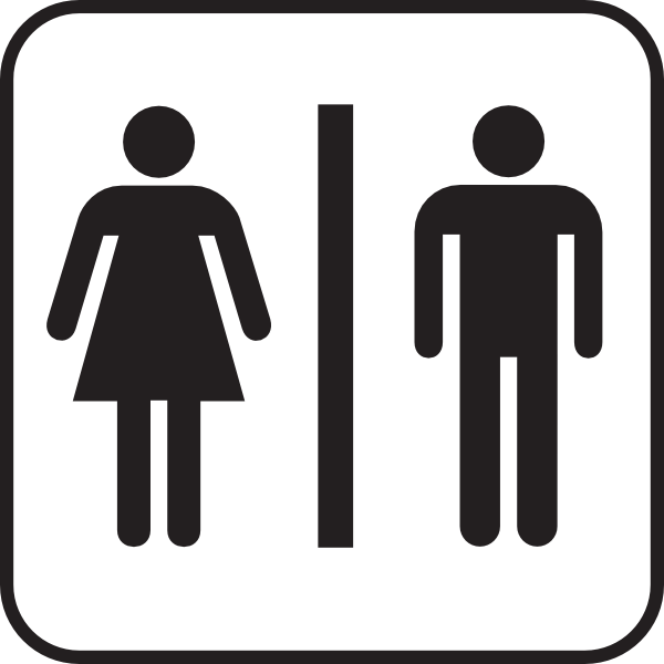 Large Man Woman Bathroom Sign clip art - vector clip art online ...