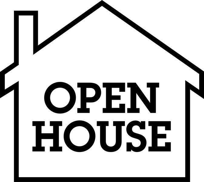 Open house clipart for Open home