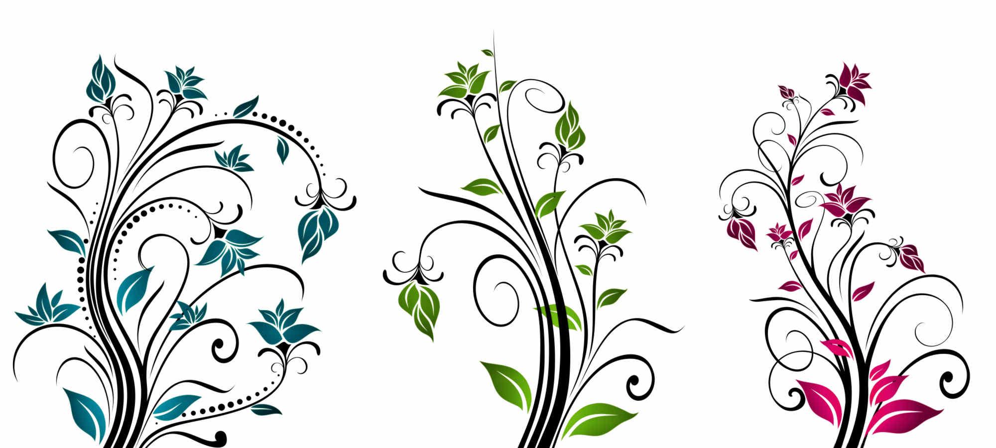 Flower vector art for Art flowers