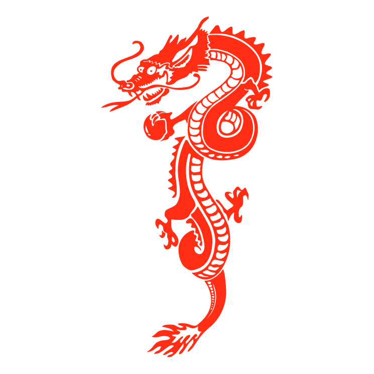 Chinese dragon vector for Chinese vector