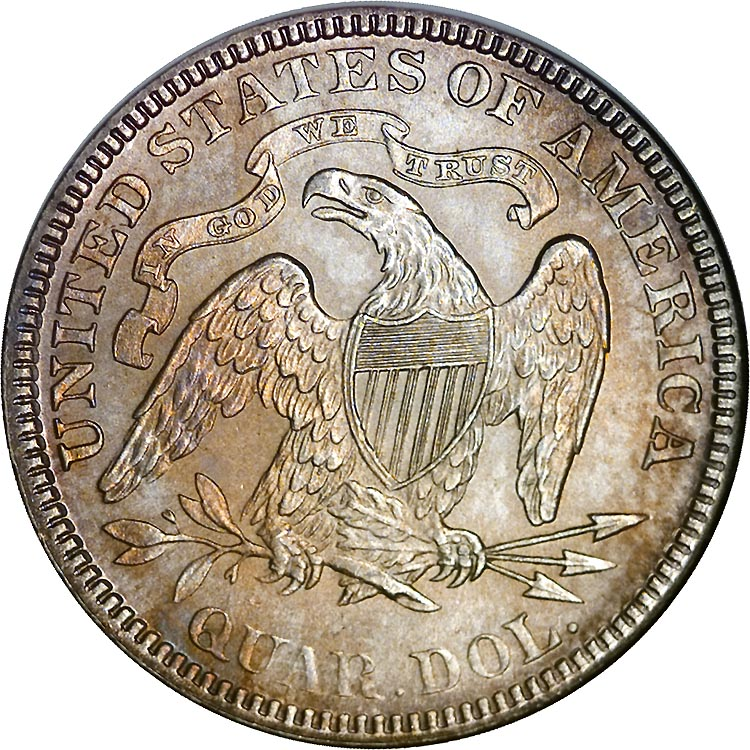 1890 25C MS Seated Liberty Quarters | NGC