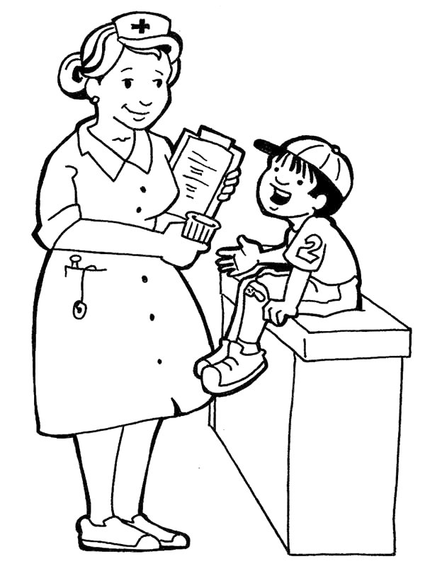 child nurse coloring pages - photo#5