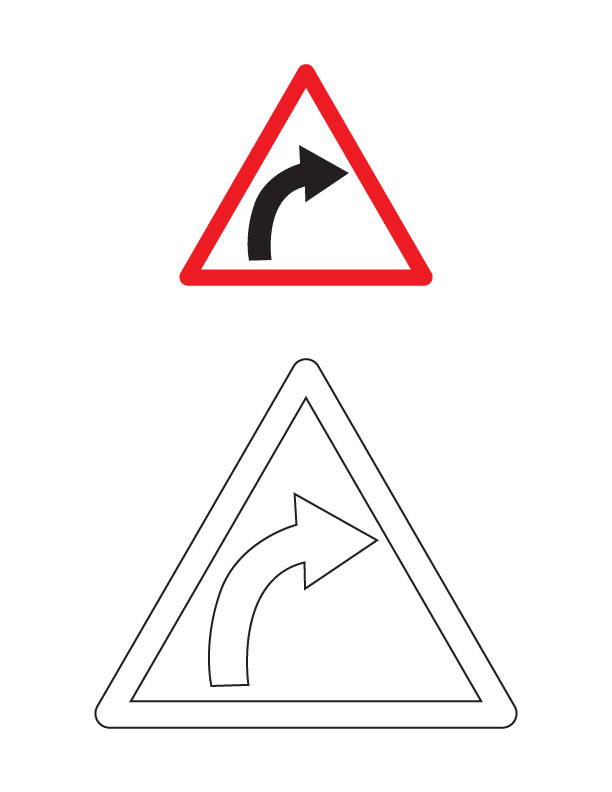 Caution Sign Page Coloring Pages