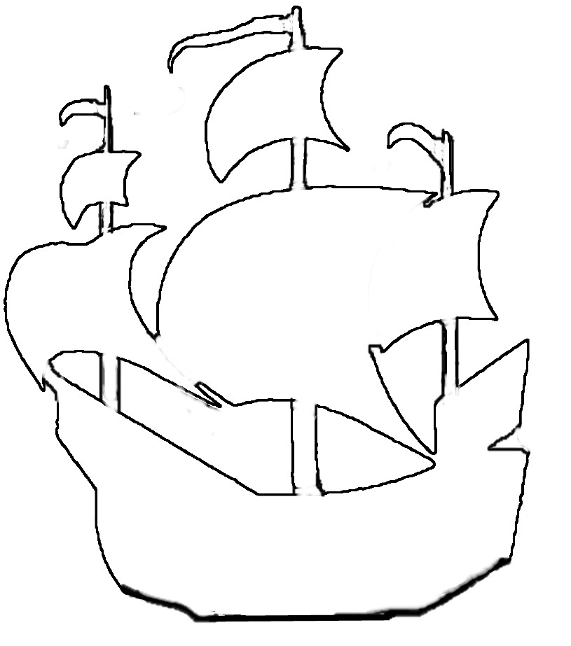 Pirate Ship Outline Cliparts Co