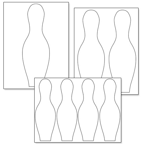 Declarative image pertaining to bowling pin printable