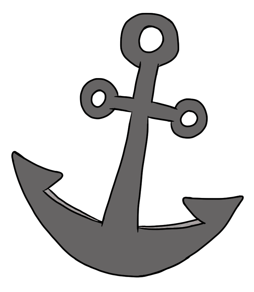 Clip Art by Carrie Teaching First: Pirate Doodles with FREEBIE Anchor