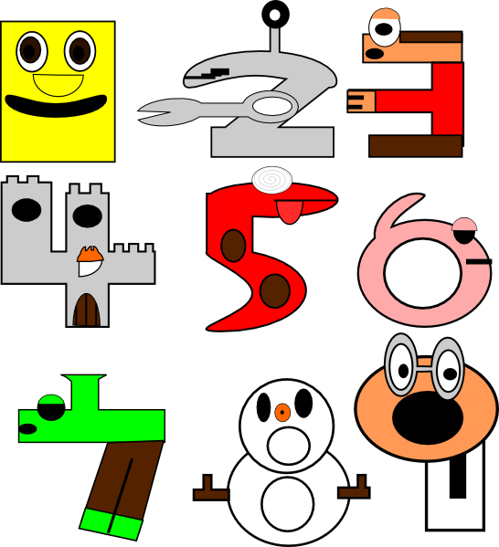 Cartoon Numbers clip art - vector clip art online, royalty free ...