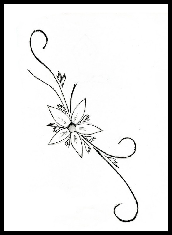 Simple Flower Tattoos Cliparts Co