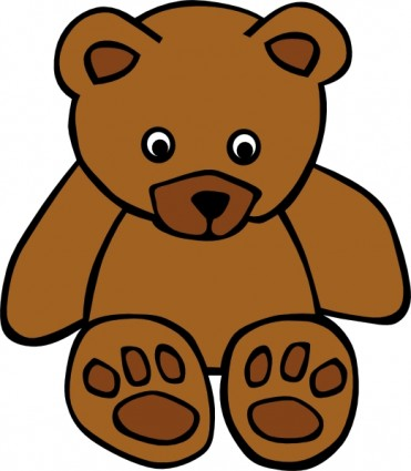 Simple Teddy Bear clip art Vector clip art - Free vector for free ...
