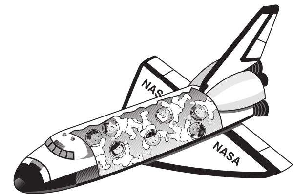 space shuttle clip art clipart best - Nasa Space Shuttle Coloring Pages
