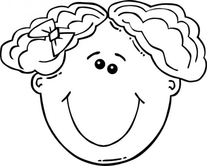 Girl Face Cartoon Outline clip | Clipart Panda - Free Clipart Images