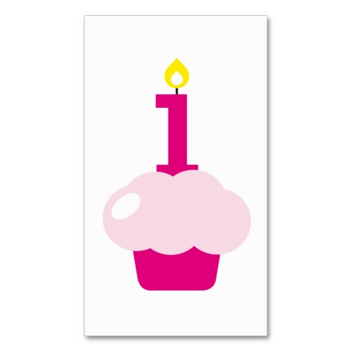 Cute Cupcake with Birthday Candle bookmark Business Card | Zazzle Birthday