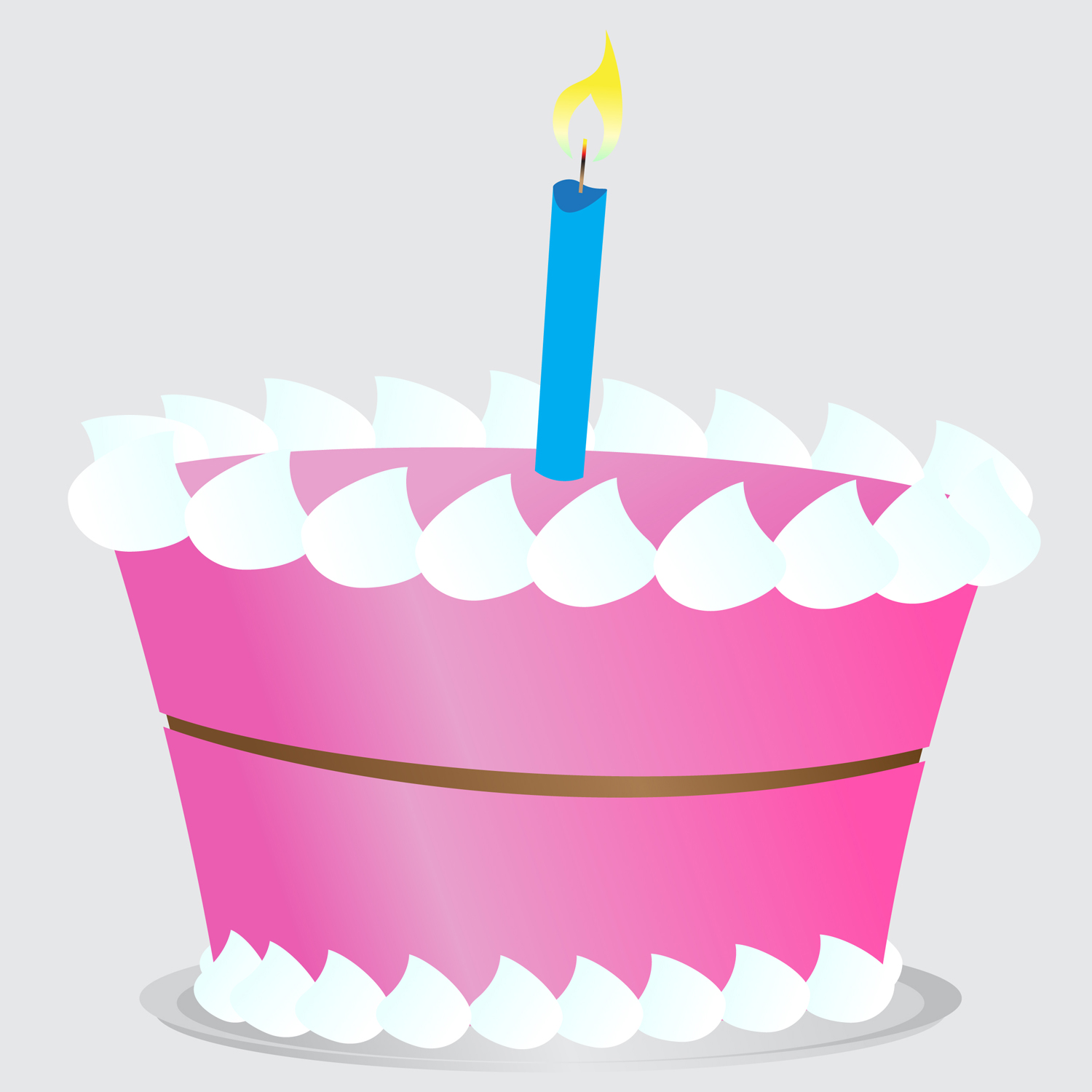 Cake Clip Art Candles : Cake Vector - Cliparts.co