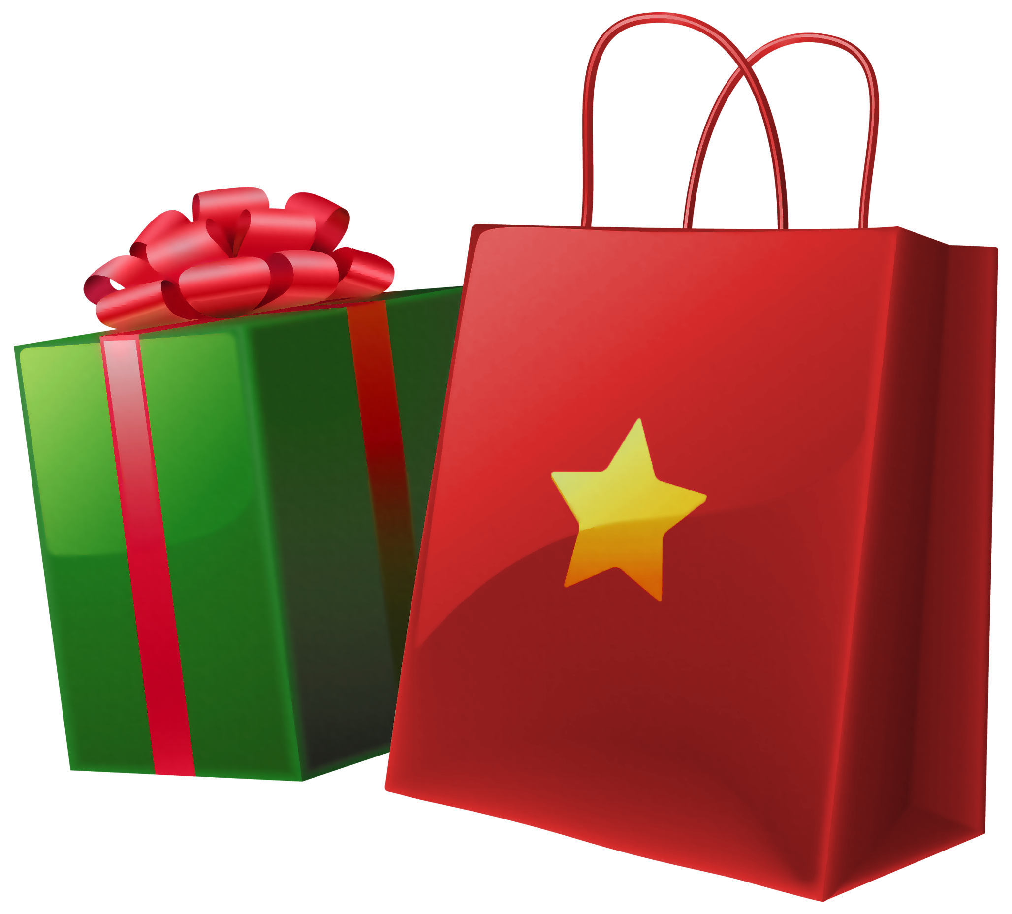 christmas gift bags clipart - photo #1