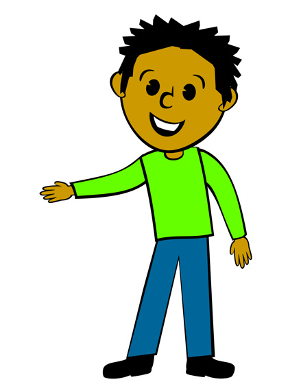 Ad Guy in Green Shirt - Free Clip Art