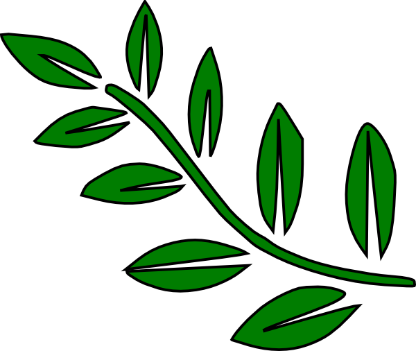 Green Tree Branch clip art - vector clip art online, royalty free ...