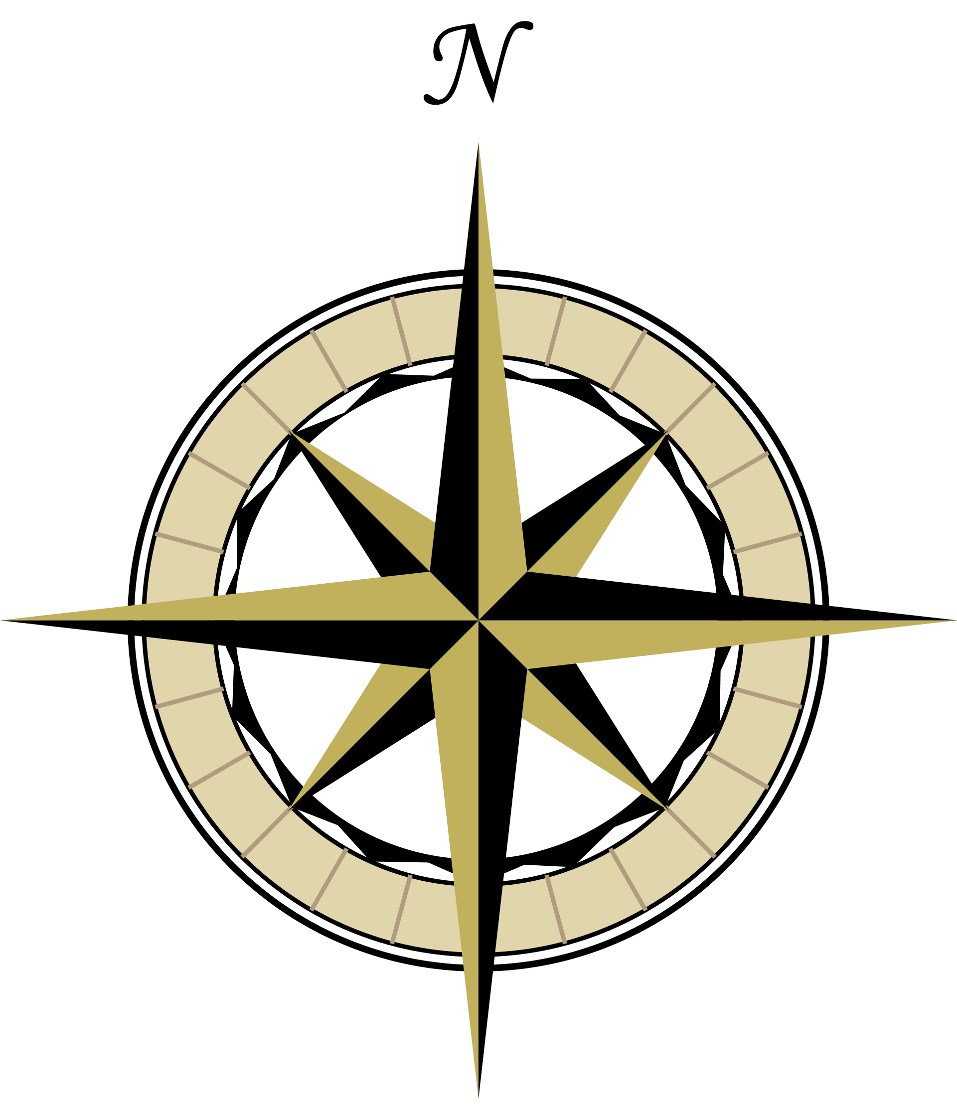 Simple Compass Rose - Cliparts.co