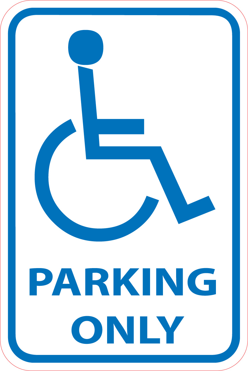 Effortless image pertaining to printable handicap signs