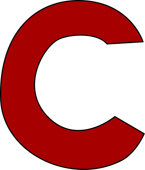 Red Letter C Clip Art - Red Letter C Image