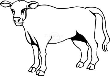 Cow Clipart : cow_0 : Classroom Clipart