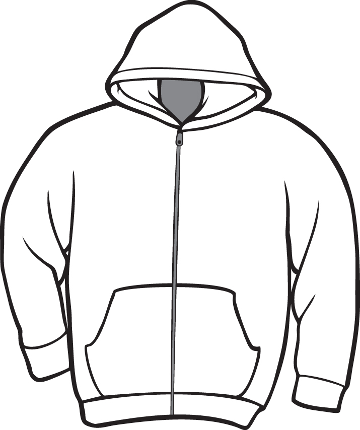 Line Drawing Of Zipper : Printable t shirt template cliparts