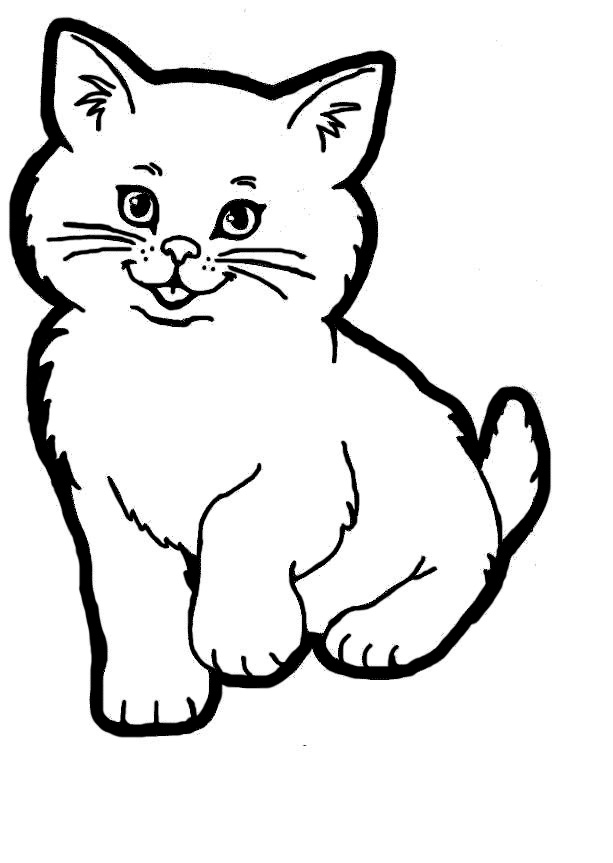 Line Drawing Of Cat : Cat line art cliparts