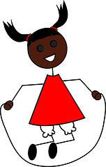 Exif | Clip Art Illustration of a Cartoon Little Black Girl ...