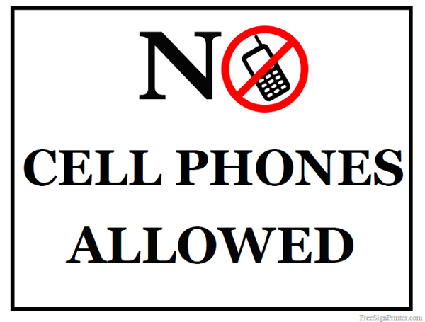 Printable No Cell Phone Sign - Cliparts.co