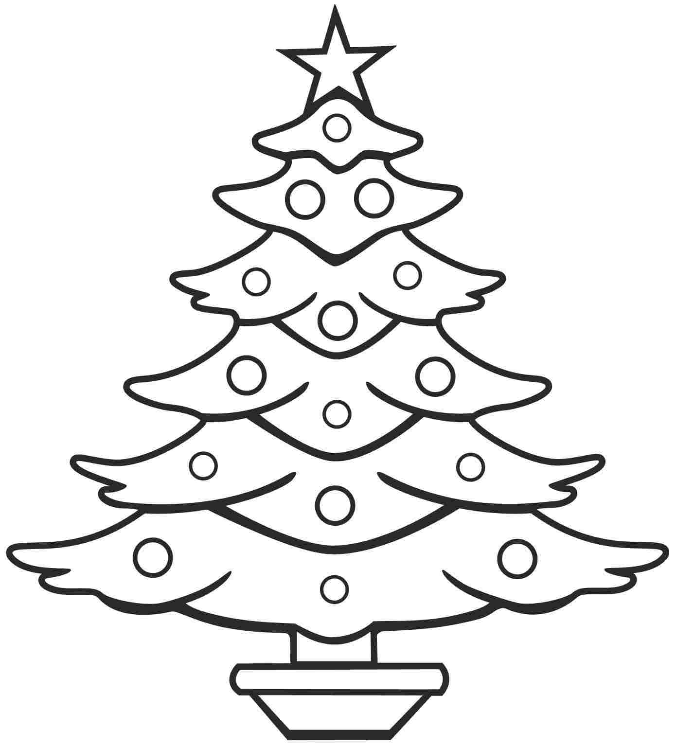 Line Art Xmas : Christmas tree line drawing cliparts