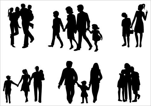 Family Silhouette Clip Art Family Silhouette Clip Art