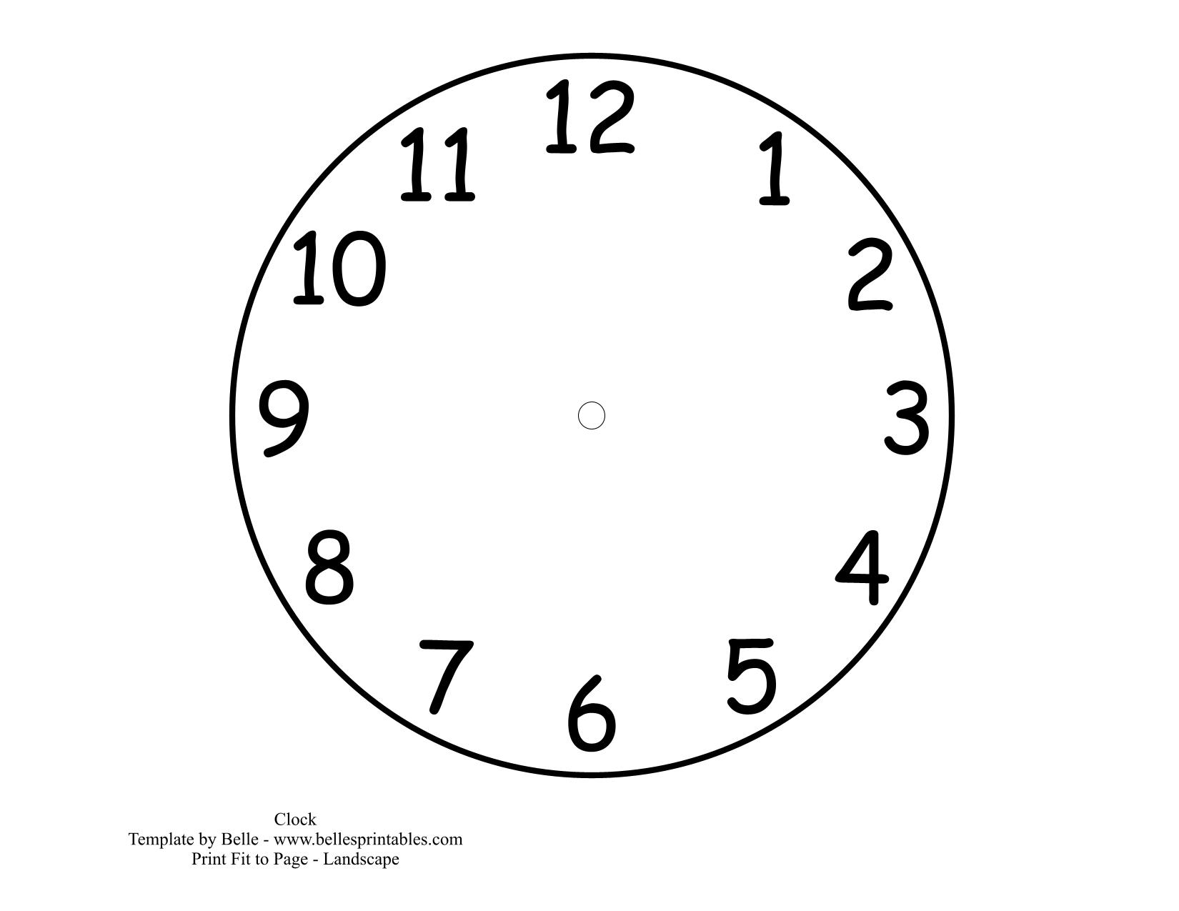Free Clock Buddies Template Printable Cliparts Co