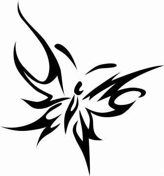 Simple Tribal Butterfly Drawings ClipArt Best Clipartsco