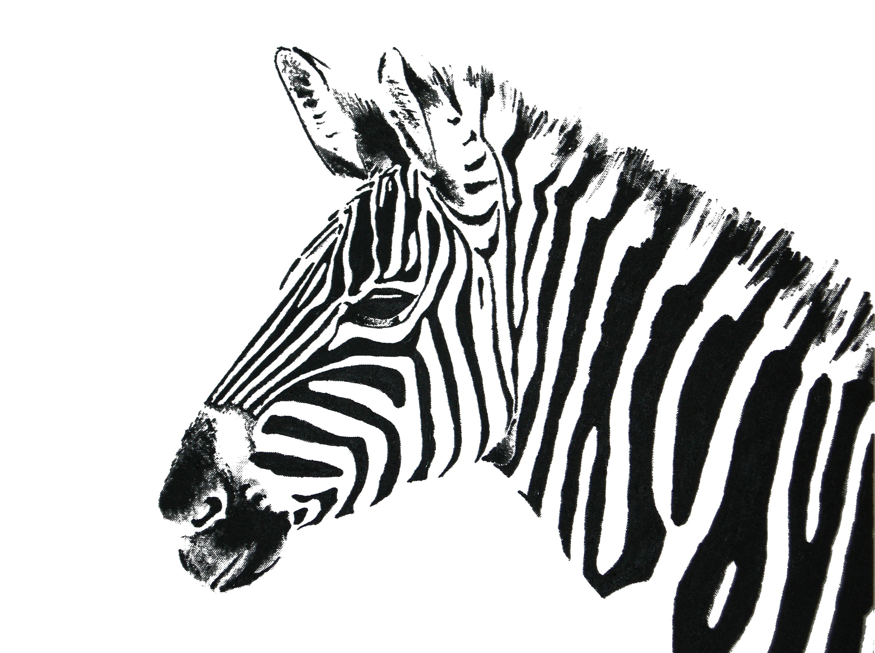 how to draw a zebra head easy