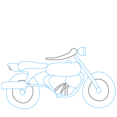 How to draw motorcycles fun drawing lessons for kids for Fun and easy pictures to draw