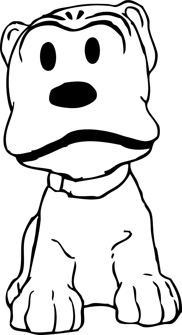 Floppy Eared Dog Silhouette Png