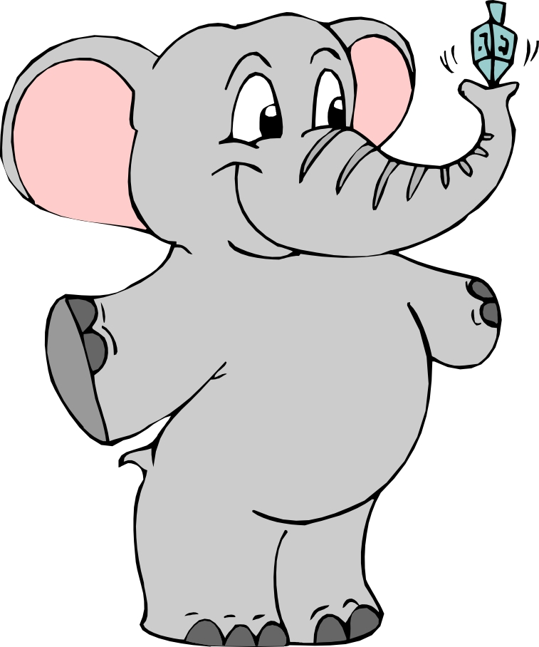 Cartoon Outline Elephant Clip Art Royalty Free Clipart Illustration Of