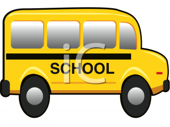 Clipart Picture of a Little Yellow School Bus