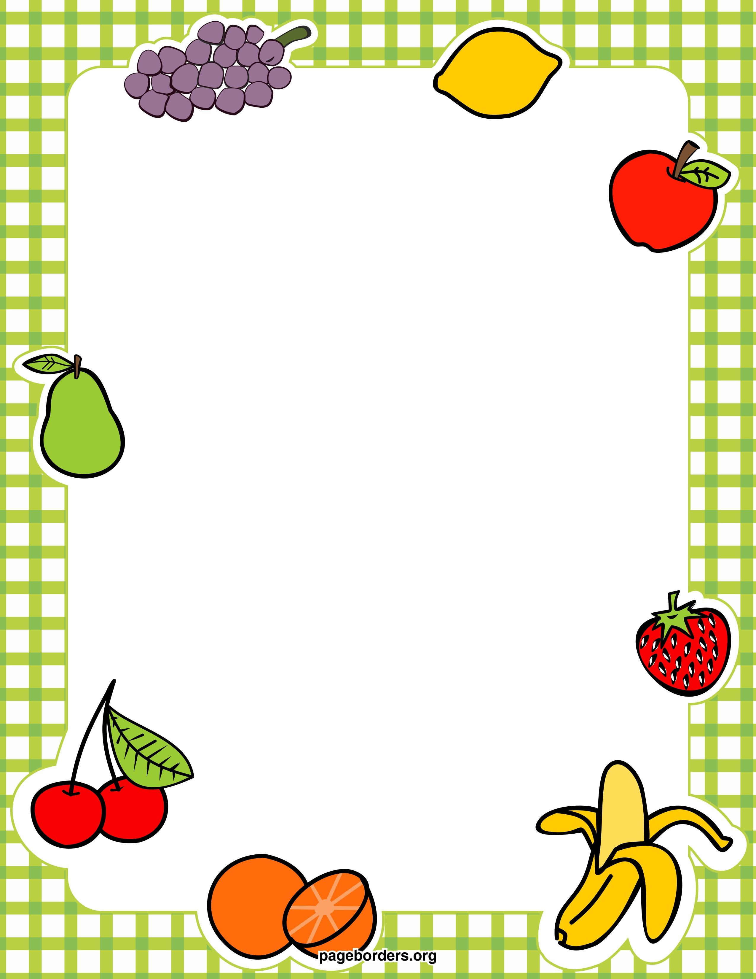 Food Clipart Border   ...