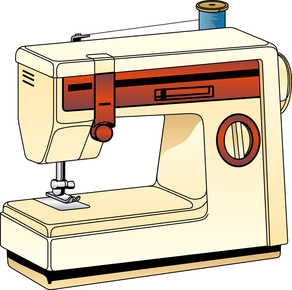 sewing machine clipart rh worldartsme com singer sewing machine clipart singer sewing machine clipart