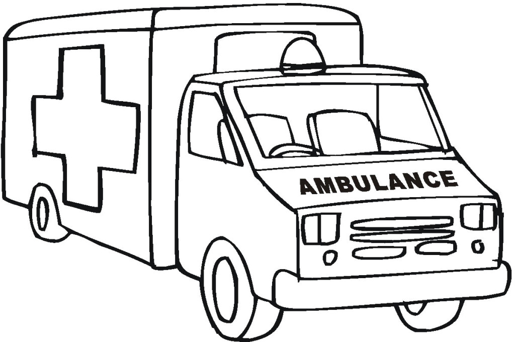 emergency vehicles coloring pages - photo #32