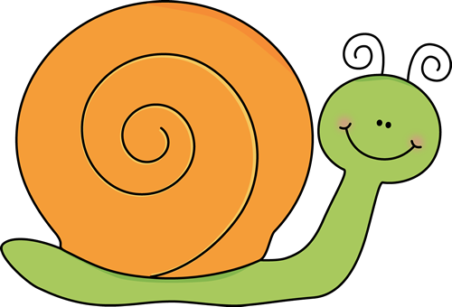 Green and Orange Snail Clip Art - Green and Orange Snail Image