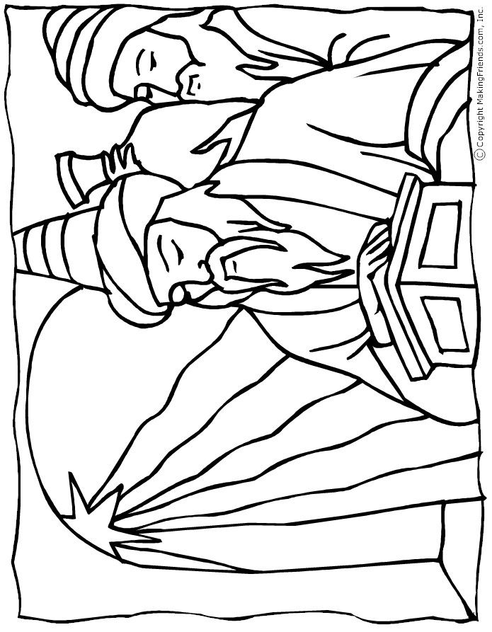 Wise men coloring page christmas in july vbs pinterest for Wisemen coloring pages