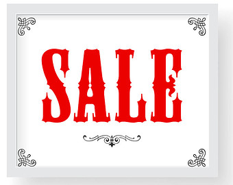 Modest image pertaining to printable sale sign