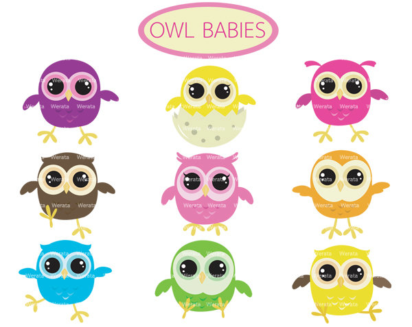 Popular items for baby owl clipart on Etsy