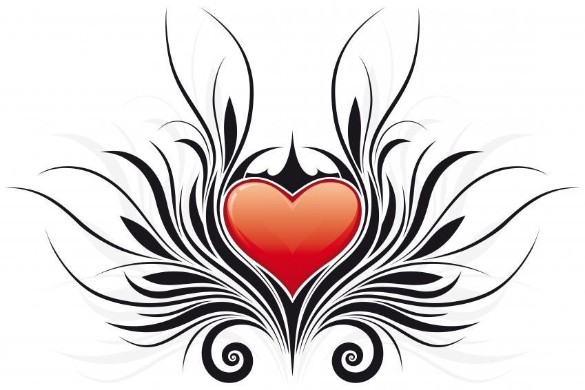 Heart and wings clipart