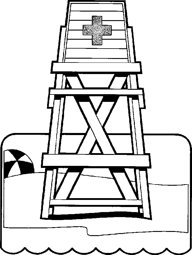 Lifeguard Coloring Pages